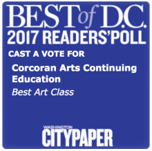 Vote for Corcoran Arts Continuing Education for Washington City Paper's Best Art Class