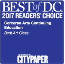 Corcoran Arts Continuing Education won Best Art Class for Washington City Paper's Best of D.C. 2017